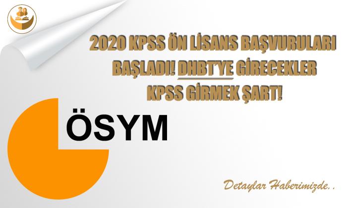 2020 KPSS Ön Lisans Başvuruları Başladı! DHBT'ye Girmek İsteyenler KPSS Şart!