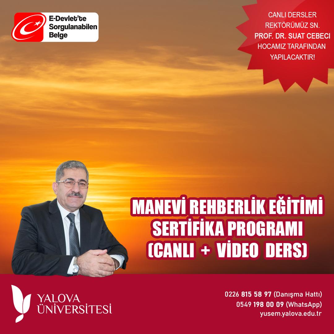 Manevi Rehberlik Eğitimi Sertifika Programı (Canlı + Video Ders)